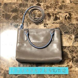 Coach Leather Triple Zip Handbag With Strap